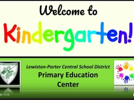 Welcome to kindergarten video title page