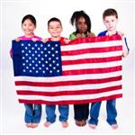 Children holding flag